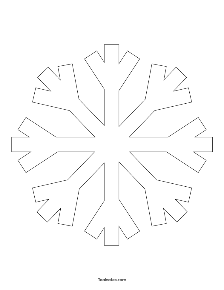 Free Snowflake Template: Easy Paper Snowflakes To Cut And ...