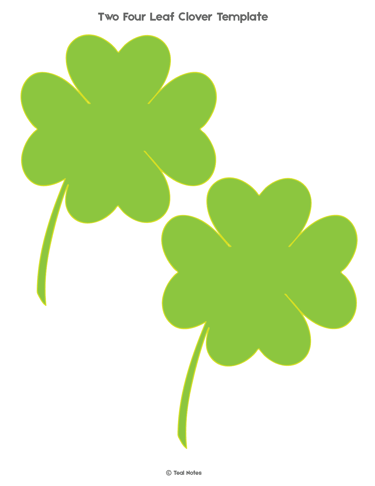 photograph about Four Leaf Clover Printable Template identify 4 Leaf Clover Template: Totally free Shamrock Template Printable