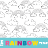 rainbow template. free printable rainbow template