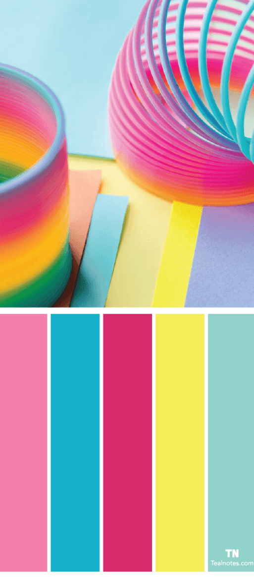 bright color combinations