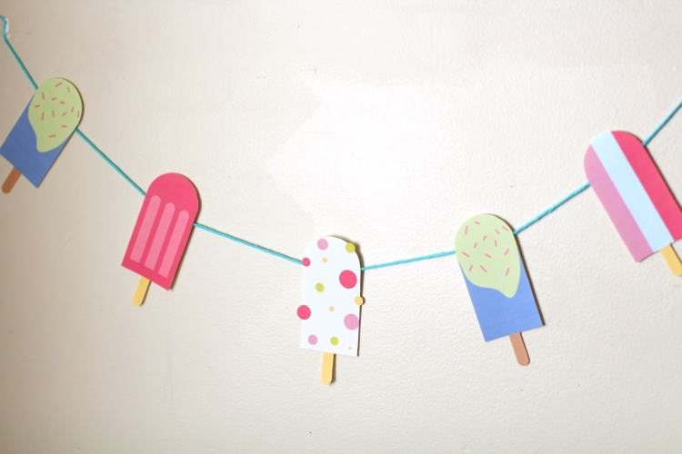 DIY popsicle garland