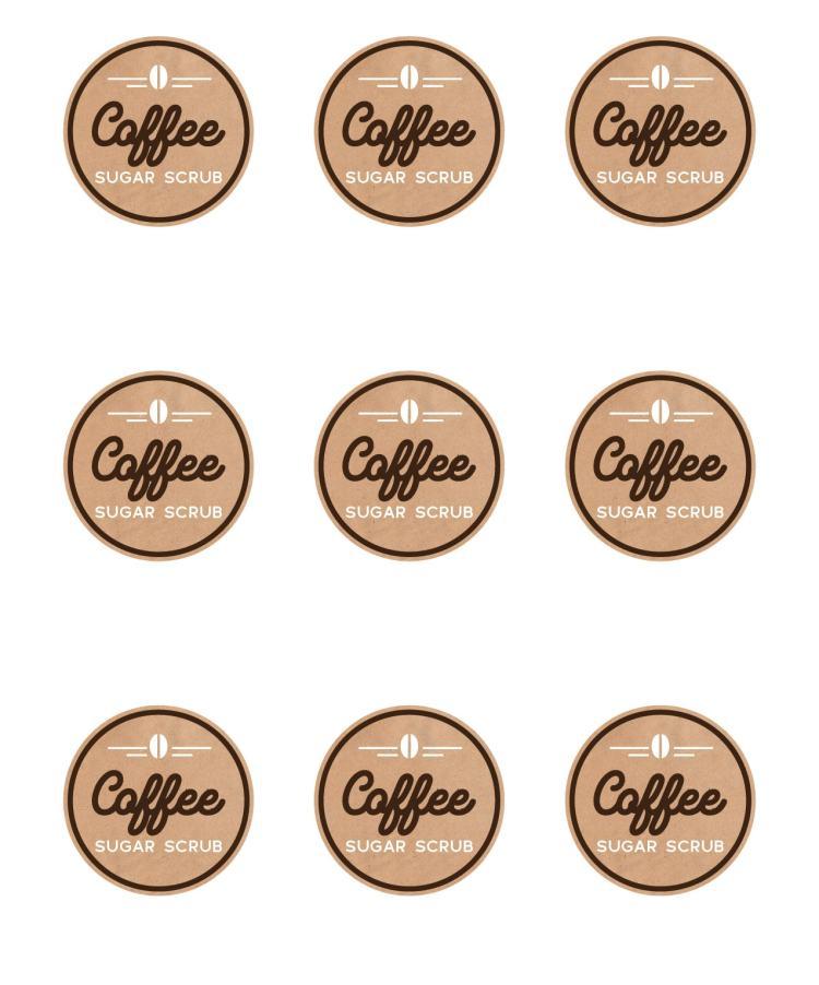 coffee sugar scrub labels