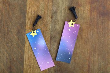 DIY Galaxy Bookmarks Printable Template