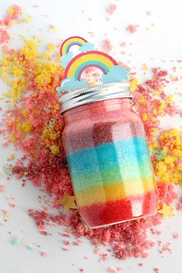 Rainbow sugar scrub   how to make it at home