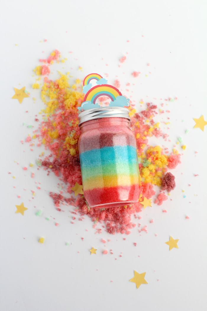homemade rainbow sugar scrub