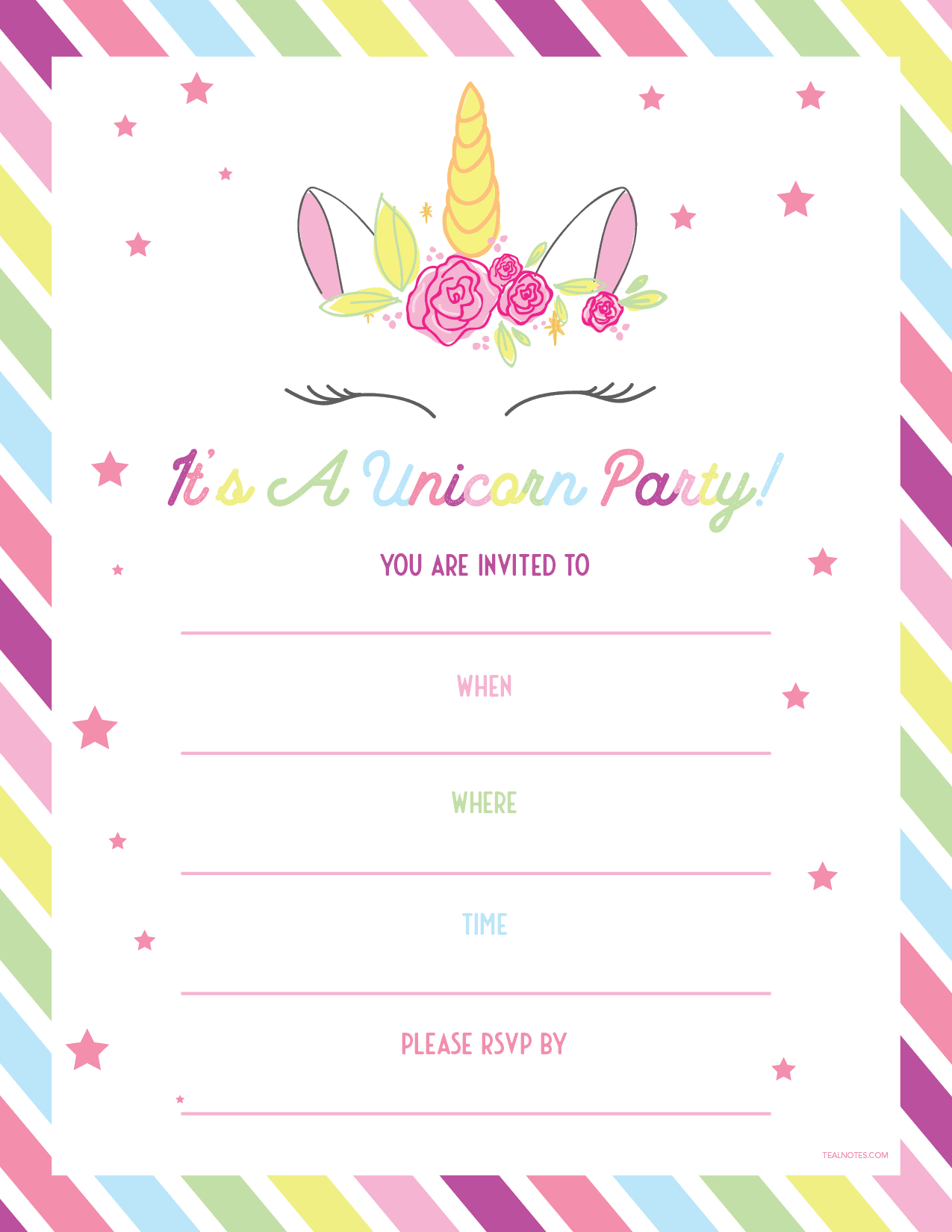 unicorn templates 17 free unicorn