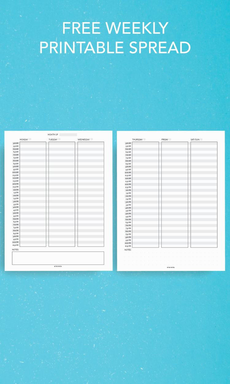 Free Weekly Printable Pages
