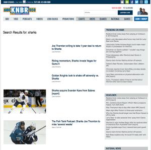 KNBR webpage