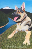 Custom German Shepherd Dog Painting