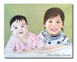 Custom Brother Sister Painting