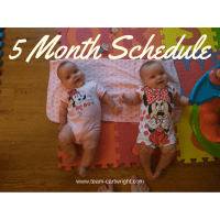 5 Month Old Twins Schedule