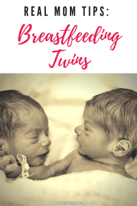 11 tips and tricks for breastfeeding twins! Here the best tips from a real breastfeeding twin mom to help you on your nursing journey. #breastfeeding #breastfeedingtwins #nursing #nursingtwins #breastfeedingtips #breastfeedingtwinstips #feedingtwins #twintips #newborntwins Team-Cartwright.com