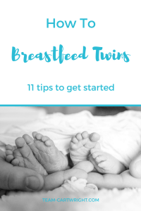 11 tips for breastfeeding twins.
