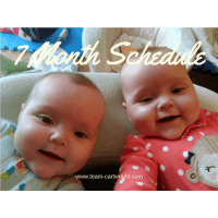 7 Months Old Twin Schedule