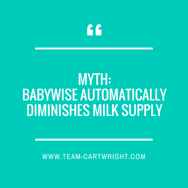 BFBN Week: Myth: Babywise Automatically Diminishes Milk Supply