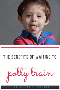 Forget the pressure to potty train early. There are many benefits to waiting until your child is just a little older. Here are 6 positives to late potty training. #potty #training #toddler #parenting Team-Cartwright.com