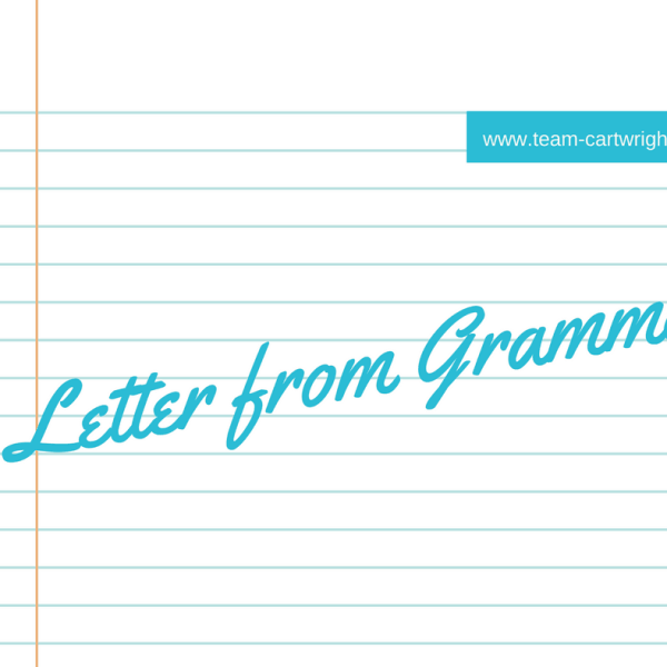 Letter from Gramma- Guest Post