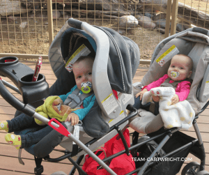 A double stroller- One of the must-haves when you are expecting twins. #twins #gear #supplies