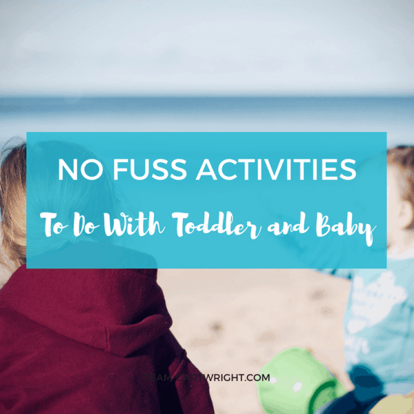 Activities your preschooler or toddler and baby can enjoy together