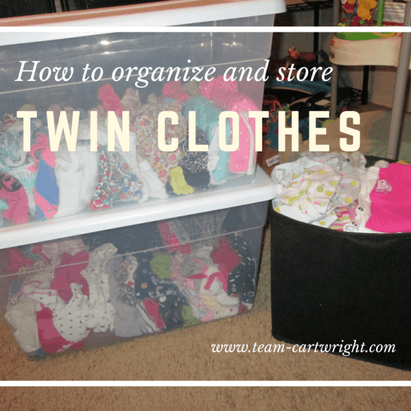 Spring Cleaning: How to keep twin baby clothes organized