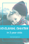 Children develop empathy younger than we think. Here are some developments my three year old has made. Empathy in Children | Emotional Development | Feelings in Children #empathy #emotional #development #toddler #preschooler #feelings Team-Cartwright.com