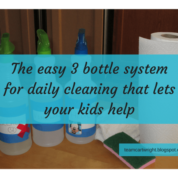 Spring Cleaning- The 3 bottle system that cleans almost the whole house (with your kids!)