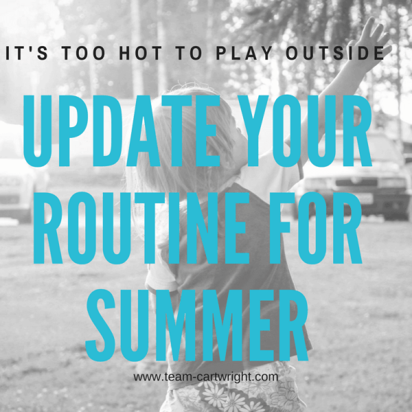 Turn your routine inside out: Updating for summer