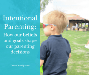 How our beliefs and goals helps shape our parenting decisions.