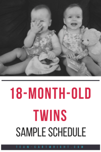 Here is the schedule we used for our 18 month old twins.  Eat, play, sleep cycle with breastfed twins.  #babywise #schedule #twins #18months #18 #toddler #1yearold #eatwakesleep Team-Cartwright.com