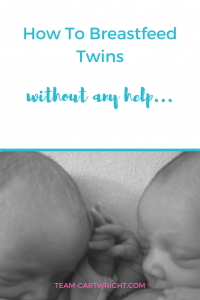 How to breastfeed twins on your own, the logistics of double nursing.