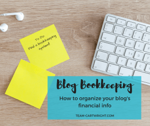 How to organize your blog's bookkeeping information.