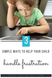 Help your little one deal with frustrations. 3 simple methods to teach your toddler or preschooler to help them cope with frustration, plus additional resources to help out. #preschooler #toddler #emotions #frustration #development Team-Cartwright.com