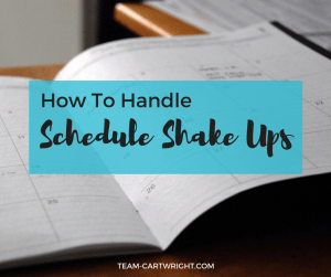 How to handle schedule changes with your kids. Update, adjust, and give your family some grace.