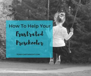 How to help your frustrated preschooler. Tips to help you preschooler deal with frustration.