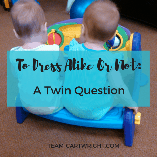 To Dress Alike Or Not: A Twin Question