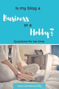 Is my blog a business or a hobby? Come tax time you will want to know. Here are some tips to determine how to classify your blog for tax purposes..