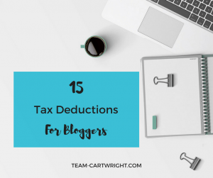 Are you a blogger trying to figure out the business side of things? Confused on your blog taxes? I can help. Here are 15 potential tax deductions for bloggers.