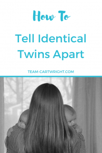 Are you a soon to be twin mom worried you won't be able to tell your identical twins apart? Curious to know more about the differences between identical twins? Here is how to tell identical twins apart. #identicaltwins #twins