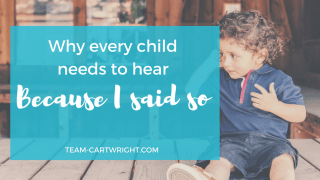 Why Every Child Needs To Hear 'Because I said so.'