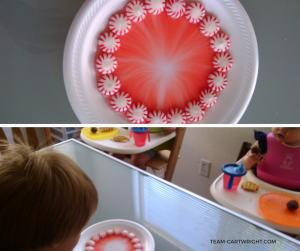 Easy Preschool Science: Candy Cane color spread! A great activity for the holidays.