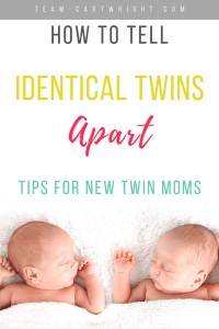 How To Tell Identical Twins Apart with pictures of twin babies