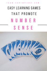 Grab some Uno Cards and let's play! These cards are great for playing matching, sorting, and memory games with toddlers and preschoolers. And all these games promote number sense! These are super easy no prep activities you can do right now. #learning #game #Number #sense #STEM #toddler #preschooler #kid #counting #sorting #matching #memory #games Team-Cartwright.com