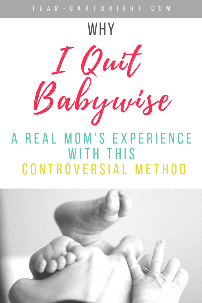 Why I quit babywise. A real mom's experience with this controversial method. Picture of babyfeet.
