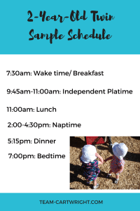Two-Year-Old Basic Sample Schedule #toddler #twin #schedule