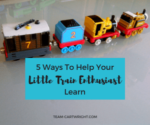 5 Ways to help your little train enthusiast learn. Learning activities for toddlers, preschoolers, and kids.
