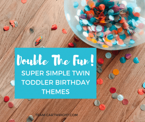 Looking for a theme for your twin toddler's birthday party? The best themes are easy, flexible, and most importantly focus on the kids! Here are 10 fun and easy themes that can be customized to your children. Twin Toddler | Toddler Birthday Theme |Twin Birthday Theme |Birthday Party #twins #toddler #birthday #party #theme Team-Cartwright.com