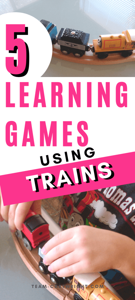 5 learning activities using trains for preschool and toddler