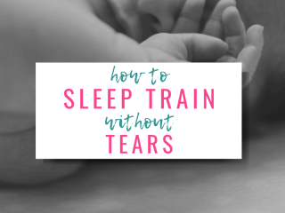 how to sleep train without tears and picture of sleeping baby