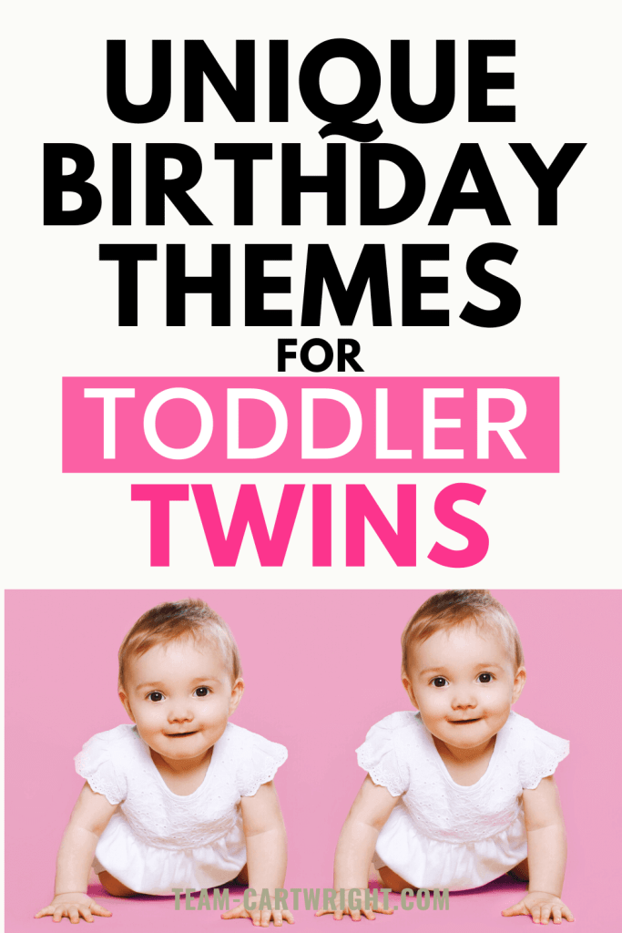 Unique Birthday Themes for Toddler Twins