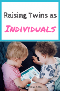 How to encourage individuality in toddler twins. Twin parents know they need to treat their twins as individuals, not a unit. But having twin toddlers and one sole caregiver can make that tough. Here are ways to train yourself as a parent to recognize your twins as individuals and let your twins feel seen for who they really are. Twin Toddlers | Twins As Individuals | Parenting Twins | Encouraging individuality in twins #twins #toddlers #parenting #raising #individuals #encourage #individuality Team-Cartwright.com